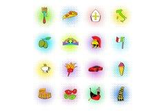 Italy set icons, comics style Product Image 1
