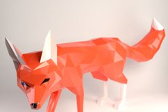 DIY Fox Papercraft, Red Fox, Fox Tail, Fox and Dogs, Fox Sculpture, Animal Trophy, Paper Animals, Home Decor, 3D origami, wild nature, foxy Product Image 1