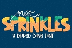 Sprinkles - A Dipped Cone Font For Layering Product Image 1