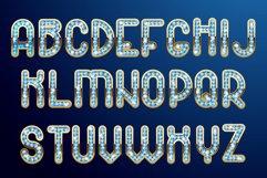 Diamonds and gold - unique font Product Image 5