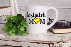 Fastpitch Mom Sports Mother SVG Design Product Image 2