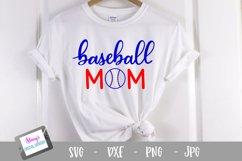 Baseball mom SVG - Sports mom SVG file, handlettered Product Image 1