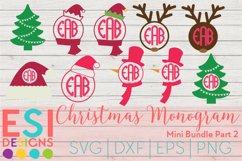 Christmas Monogram Design Mini Bundle Part 2|SVG DXF EPS PNG Product Image 1