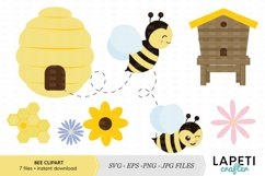 Bumble Bee clipart vector illustration Product Image 1