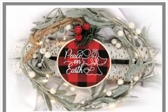 Peace On Earth Angel Christmas Winter SVG Product Image 2