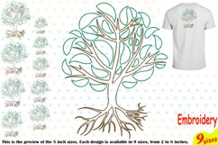 Family Tree Outline Embroidery Design Machine Instant Download Commercial Use digital Outline family love Deep Roots Branches 205b Product Image 1