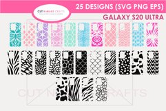 25 Galaxy s20 Ultra SVG Designs| Phone Case Decals Product Image 1