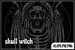skull witch illustration Product Image 3