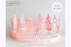 Birthday crown svg cricut Tiara svg Princess crown svg Product Image 1