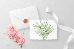 """Watercolor ClipArt """"Tropical Leaves"""" Product Image 6"""