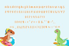 Dino Surfer   A Cute Quirky Handwritten Product Image 5
