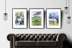15 watercolor mountain landscapes Product Image 2