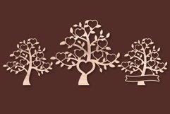 Family Tree SVG - 8 Hearts Clipart Set Product Image 2