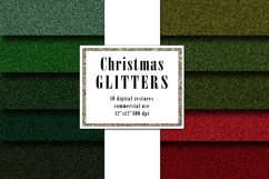 Christmas Glitter Digital Textures, Green Red Surface Product Image 1