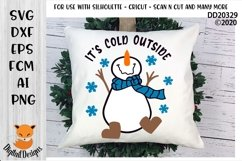 Funny Dancing Snowman It's Cold Outside Winter SVG Product Image 1