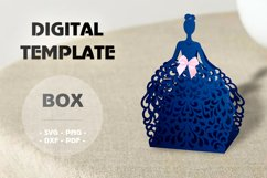 Wedding favor boxes, Gift box template Product Image 2