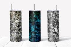 Skinny tumbler sublimation silver foil crush template Product Image 3