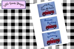 Red Vintage Truck Toilet Paper Embroidery Designs 3 designs Product Image 4