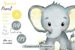 Baby Elephant, PNG, EPS, SVG, yellow color, Clip Art, vector Product Image 3