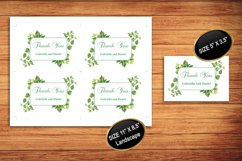 Green Thank You Card Template, instan download, DAD_08 Product Image 2