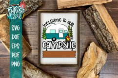 Custom Welcome To Our Campsite Hitch SVG Product Image 1