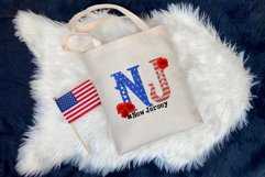 State abbreviation. USA sublimation. New Jersey Product Image 3