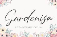 Gardenisa Beauty Modern Calligraphy Font Product Image 1