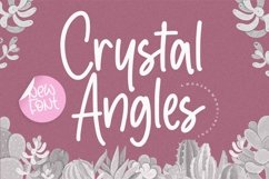 Crystal Angles Modern Monoline Font Product Image 1