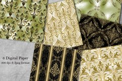 Vintage damask seamless pattern. Collection of papers Product Image 1