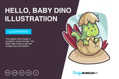Hello, Baby Dino Vector Illustration Product Image 1