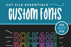 Polkami - a polka dot mirror font with stacked letters OTF Product Image 5