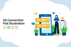 5G Connection Flat Vector Illustration Product Image 1
