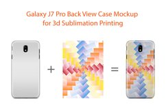Samsung Galaxy J7 Pro 3dCase Design Mockup Back Product Image 2