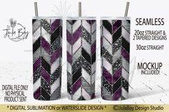 Tangram Skinny Tumbler Bundle Chevron Sublimation Design PNG Product Image 3