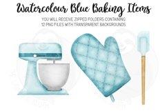 Blue Baking Equipment Watercolour Clipart Product Image 6