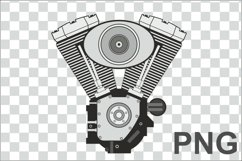 Vector image of a V-twin engine Product Image 3