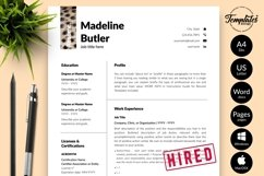 Animal Care Resume Template for Word & Pages Madeline Butler Product Image 1