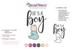 It's a Boy SVG Cut File - Baby Announcement Product Image 2