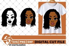 Melanin svg, Short Hair svg, Black Woman svg, Afro, Sublim Product Image 1