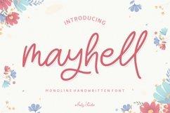 mayhell Monoline Handwritten Font Product Image 1