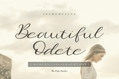 Beautiful Odete Modern Calligraphy Font Product Image 1