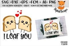 I Loaf You Funny Pun Valentine SVG Product Image 1