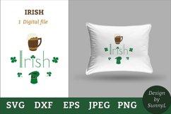 Irish svg. Beer mug, shamrock, hat. St.Patricks day svg Product Image 1