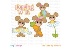 Easter Hop To It SVG Cut File Product Image 1