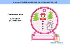 Snowman with Girl In The Hoop Ornament Product Image 2