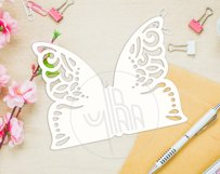 Butterfly papercut tempelate, SVG cutting file Product Image 4