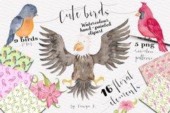 Cute Birds Watercolor Set Product Image 1