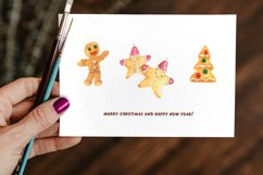 Gingerbread Clipart Sublimation design Watercolor PNG JPG Product Image 5