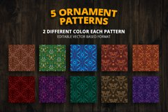 5 Ornament Patterns Vector Product Image 2