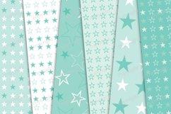 Pastel mint stars seamless digital paper Product Image 3